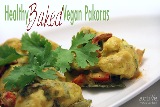 Healthy Baked Vegan Pakoras