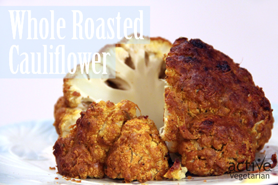 """Cheesy"" Whole Roasted Cauliflower"