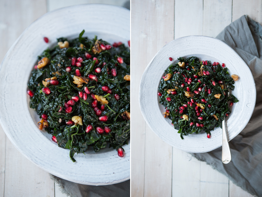 Pomegranate-Walnut-Kale-Salad