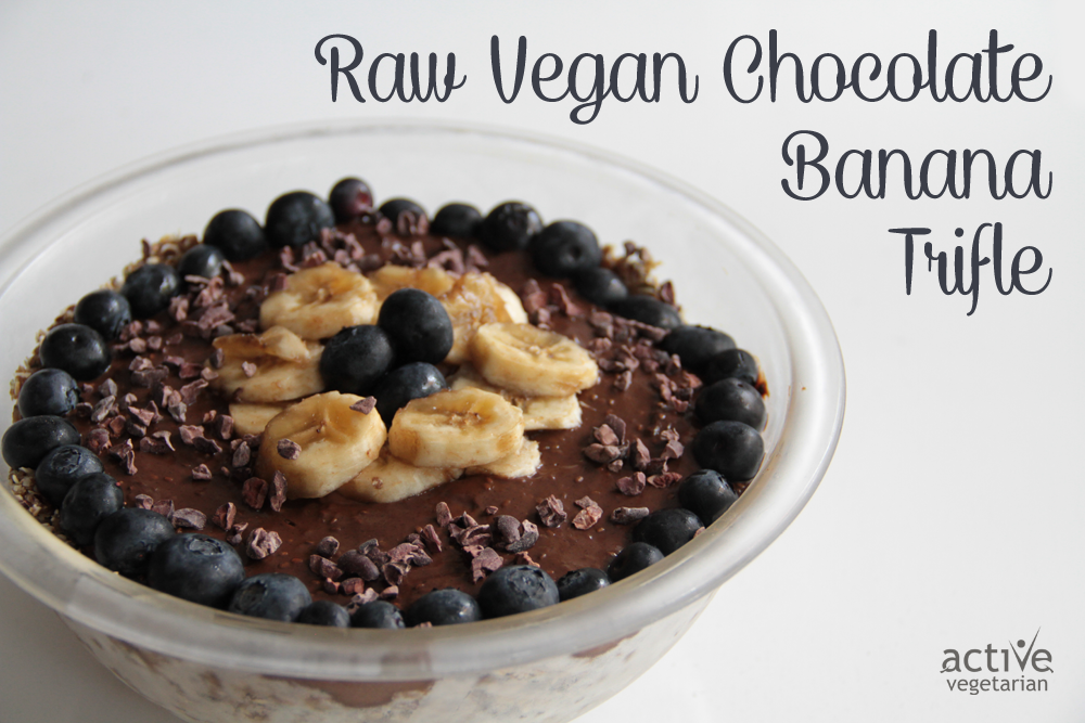 Raw Vegan Banana Chocolate trifle 2
