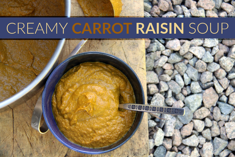 Creamy Carrot Raisin Soup 2