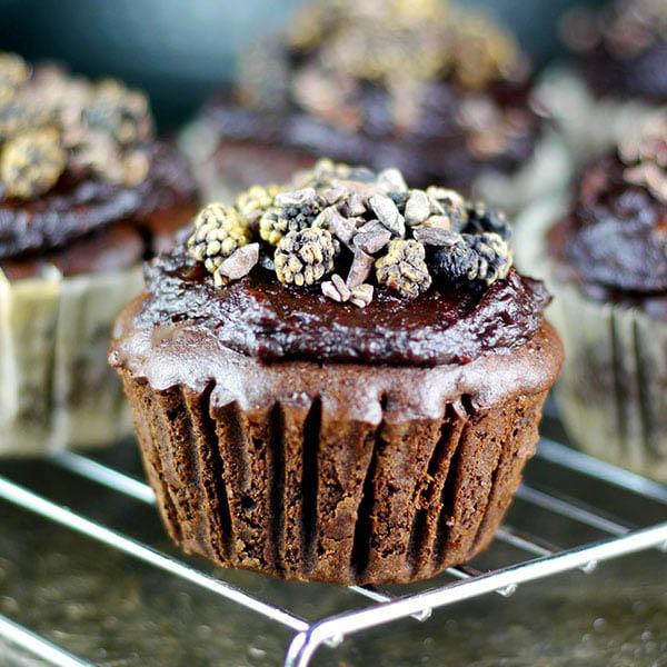 Buckwheat Zucchini Chocolate Cupcakes