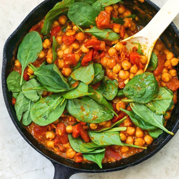 Chickpea + Spinach Curry