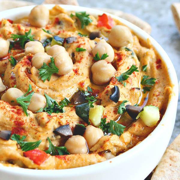 Roasted Vegetable Chickpea Spread