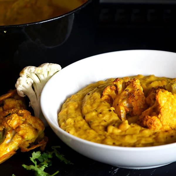 One Pot Coconut Dal w/ Spiced Califlower